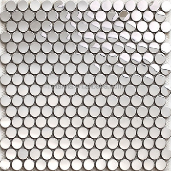 304 Silver White Penny Round Stainless Steel Tile Trim