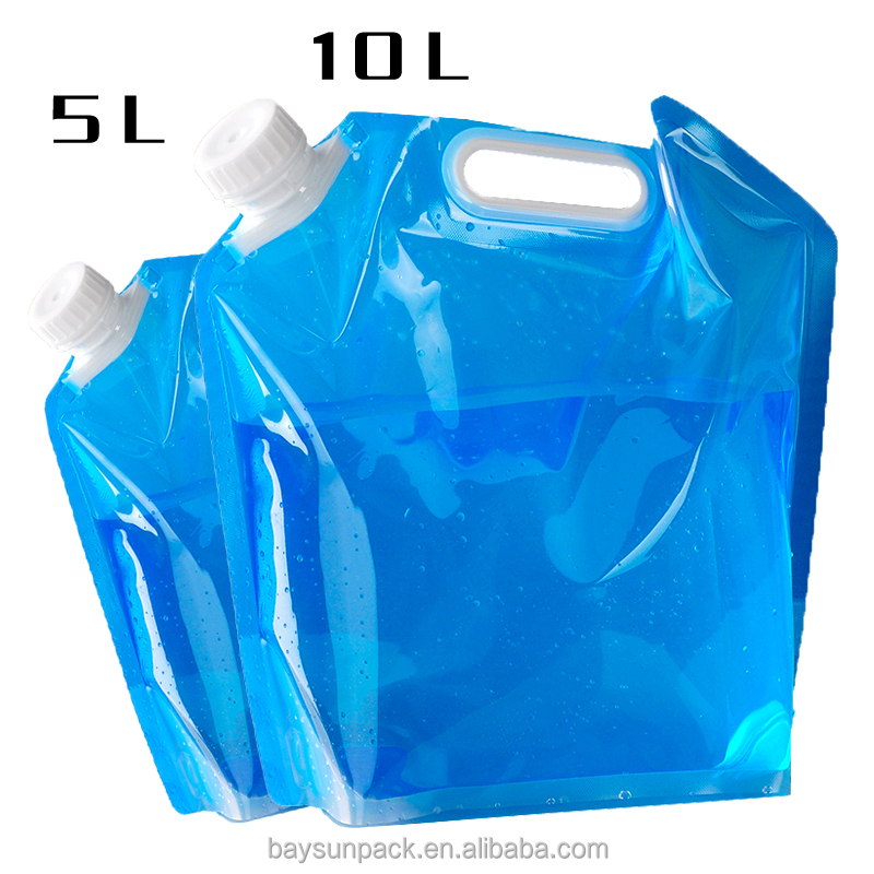 Outdoor camping camping portable folding bag bulk water bucket bag 2L3L5L10L water bottle