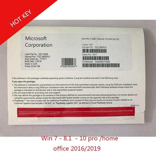 Windows 10 Professional Win Pro 10 64Bit English version OEM full package DHL free shipping фото