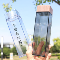 Korea style square bottle, customized bottle with various lid, clear bottle