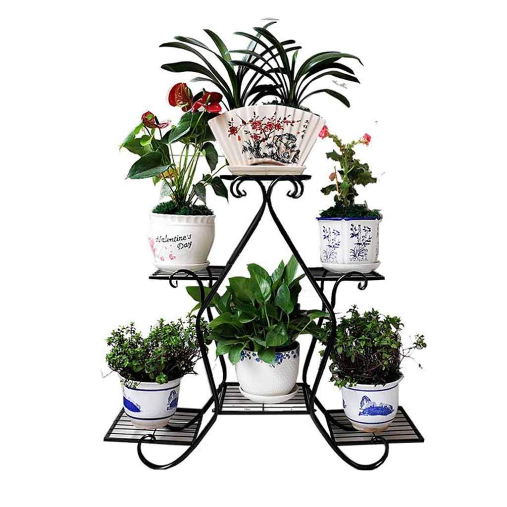 26a0b90afd23 Get Quotations · 5 Pots Pot Plant Flower Stand Rack Metal 3 Tier Iron  Planter Holder Home Decoration Display