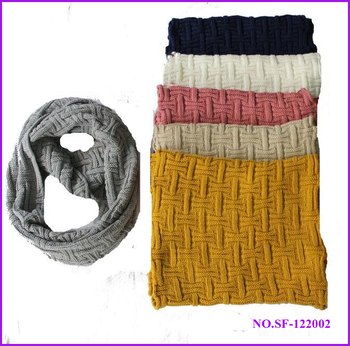 New product 2015 chunky acrylic knit infinity winter scarf