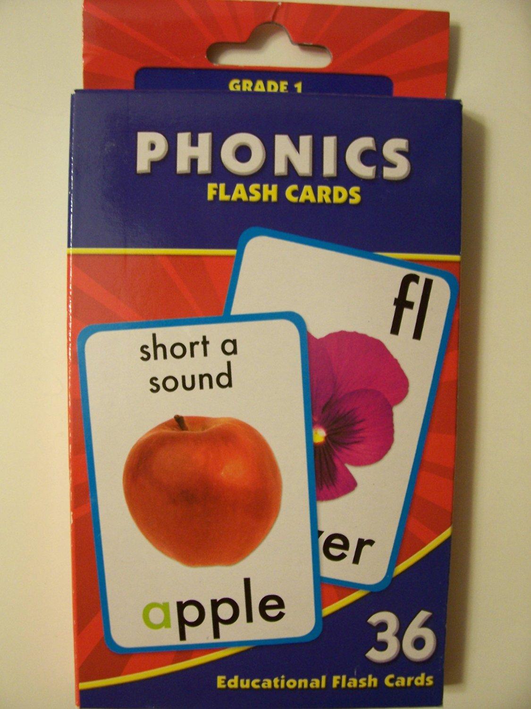 Educational Flash Cards ~ Phonics (36 Flash Cards; Grade 1)