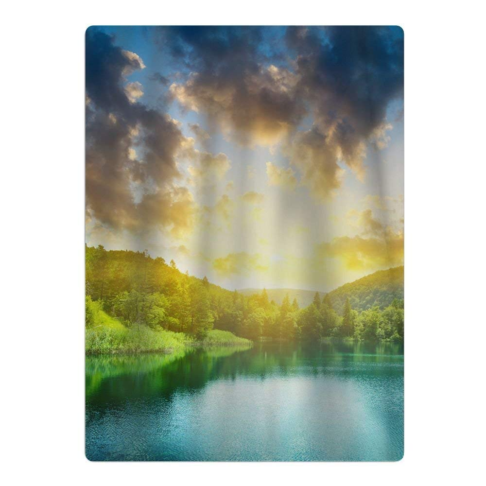 nxzi159is Beautiful Lake View In The Sunset Super Absorbent And Soft Teens Beach Pool Towels - Towels