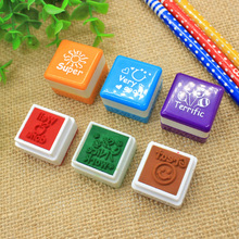 2019 new Cartoon Kids Stamp Set /School square motivation Stamps /DIY Teacher supplies funny self inking stamp