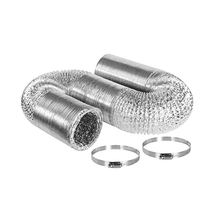 Ventilation system 4 inch aluminum foil flexible duct for air conditioner