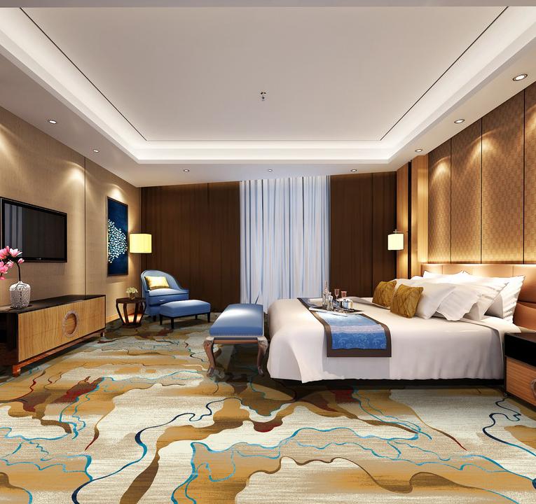 Luxury Hotel Room Interior Design: Custom Design Luxury Hotel Used Carpet Hotel Guest Room