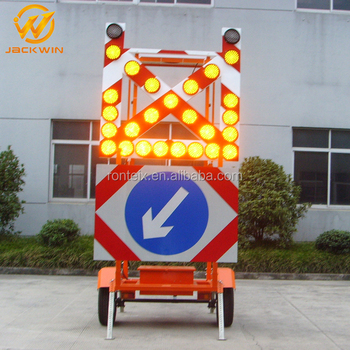 Led Solar Traffic Arrow Sign Trailer Safety Signs Buy