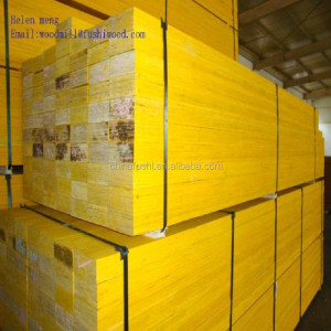Construction Grade Yellow Painting Pine LVL Beams for Australia Market