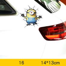 Стикеры Volkrays для автомобилей, аксессуары, 3D Мстители, железный человек, мультяшная наклейка для мотоциклов, Chevrolet Focus, Smart Mini, Mazda, Volkswagen(Китай)