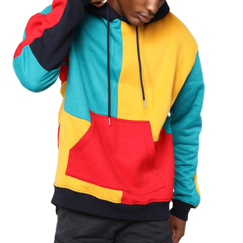 71e9bbed 2019 Fashion No Logo Multi Colors Custom Mens Color Block Hoodies ...