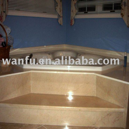 Marble tub surrounds with Marble steps