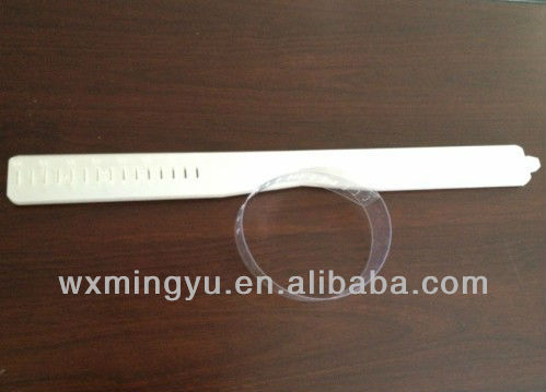 PET/PVC/PS material clear Plastic collar bands for clothing