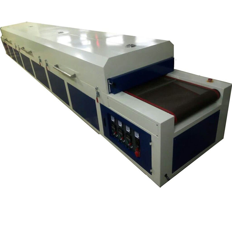 professional manufactory IR hot drying Tunnel conveyor dryer for T-shirt Silk