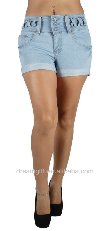 Style JH1029 High Waist Colombian Style Stretch Design Butt lift Short Shorts
