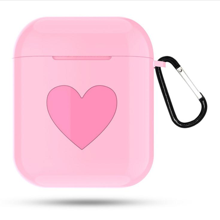 Heart Pattern Dust-proof Shockproof Outdoor Protective Wireless Earphones Charging Box for Apple Air Pods Case