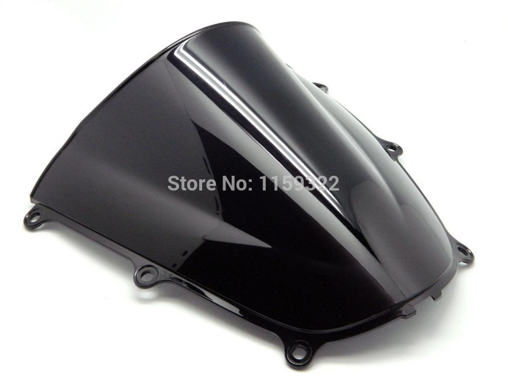 Мотоцикл запчасти дым черный двойной пузырь ветрового стекла лобовое стекло для 2005 - 2006 HONDA CBR 600 RR