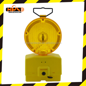 Top quality amber color traffic security led warning light with traffic cone for road safety