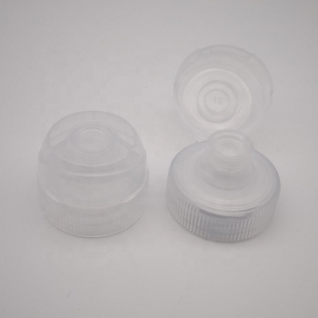 38/400 plastic tomato sauce/honey flip top cap with silicone valve