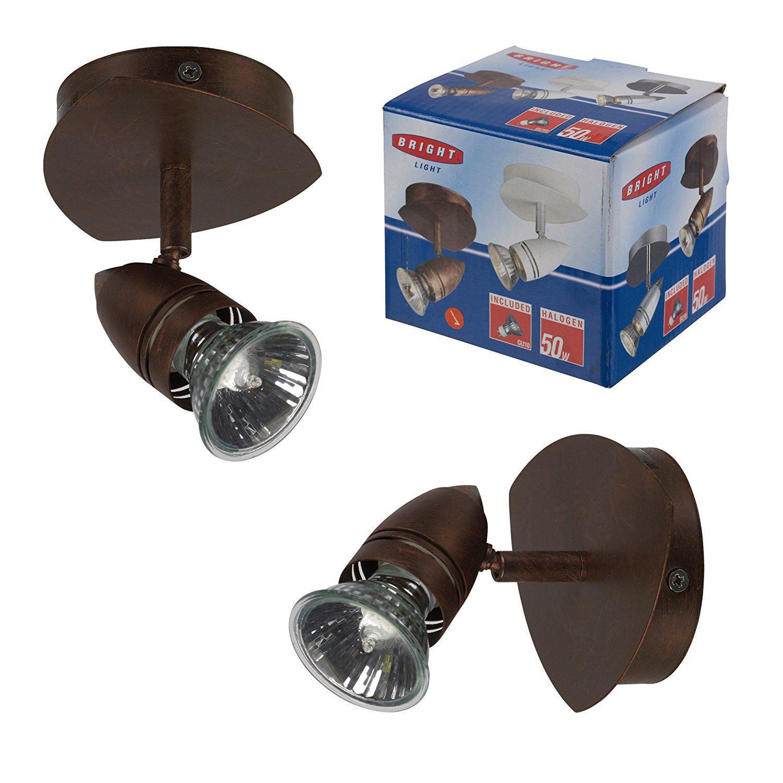 BRIGHTLIGHT Brightlight Halogen Brown Spotlight Gu10 50W Bulb Included