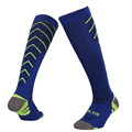 16 17 Men sports socks long thick soles Stripe Anti slip running soccer football tube sock