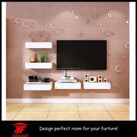 Eco-friendly Space Saving Home Decor Multi-Purpose Wooden Wall Shelf Drawers