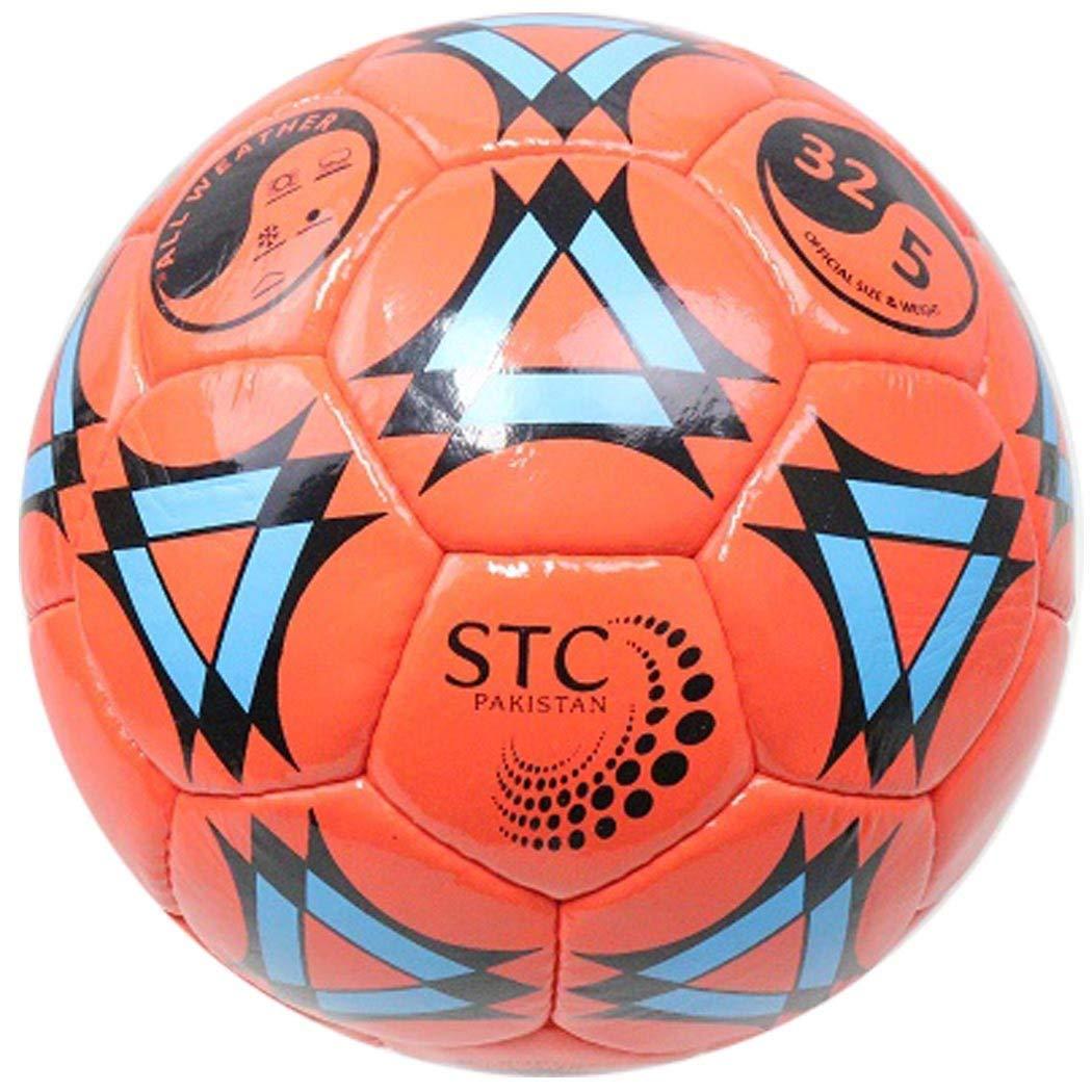 PERRINI Sports Indoor Outdoor Orange Soccer Ball Black & Blue Design Size 5