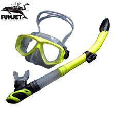 FUNJET Swimming Gear Scuba Anti-Fog Goggles Mask Diving Glasses Snorkel In One Set