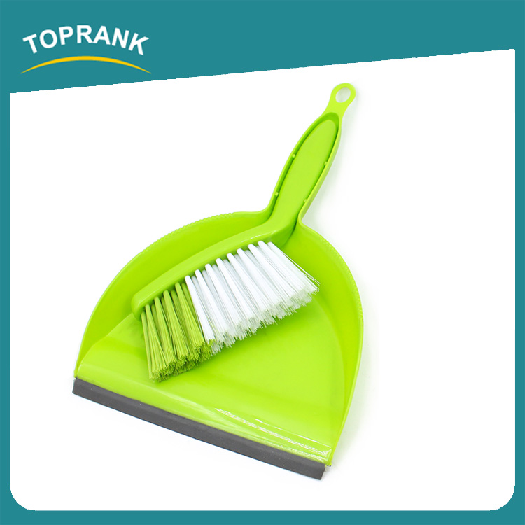 Toprank Household Durable Kitchen Cleaning Plastic Mini Hand Dustpan Broom Set With Small Cleaning Brush