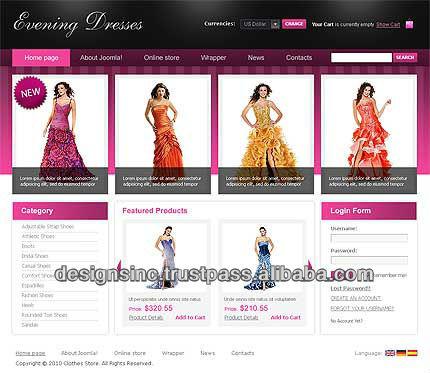 Online Clothing Store,Shopping Ecommerce Website Design - Buy ...