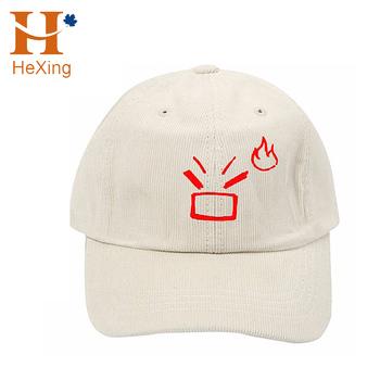 47260daf (Mock Up Image) 2017 Custom 6 Panel Beige Corduroy Unstructured Emoji  Embroidery Dad Hats
