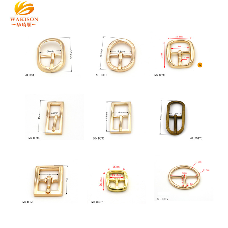 new design metal pin buckle  belt buckle for bags shoes  with logo