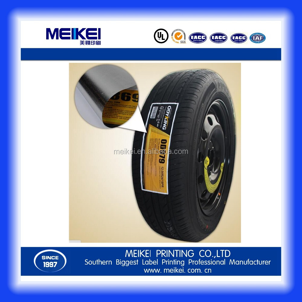 adhesive rubber tyre sticker for cars