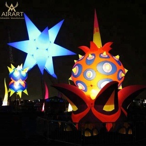 Outdoor decorative LED lighting event inflatable stars and balloon