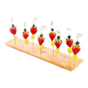 Bamboo Skewer Holder with 20-holes skewer stand
