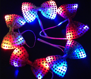 lighting up led bow tie party
