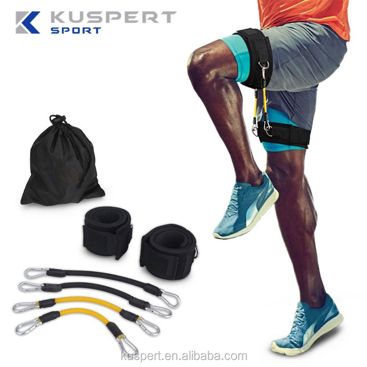 Speed Agility Training Strength Leg Resistance Bands with a whole set for Running Taekwondo Football Training