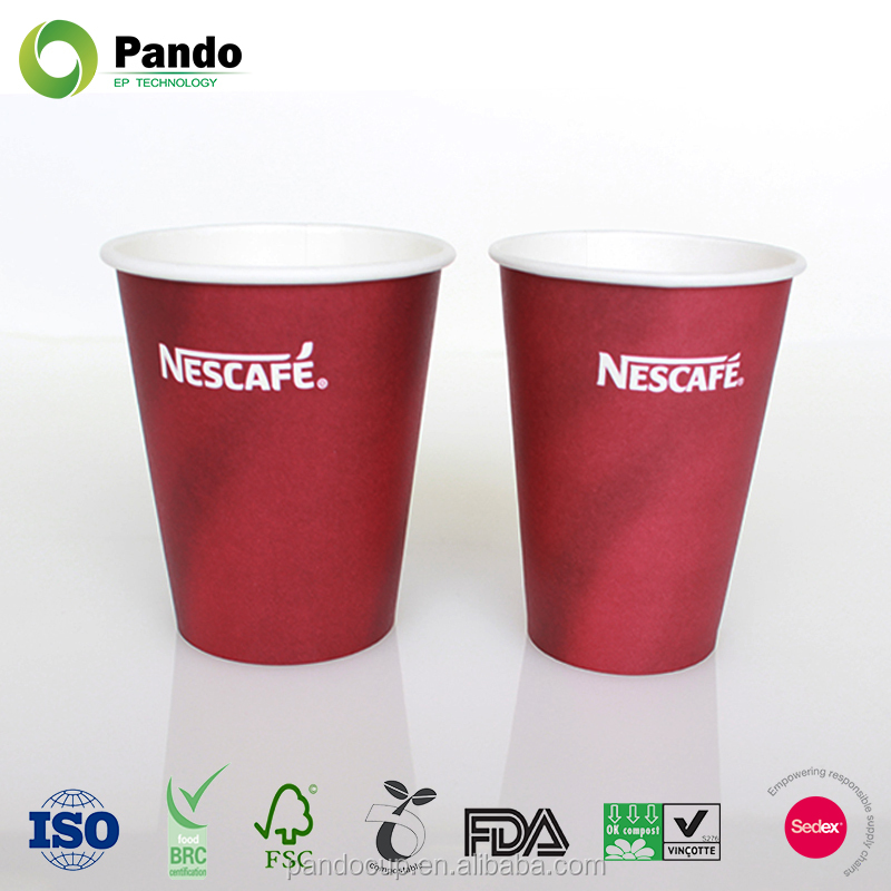 Cute Style Disposable 200ml Design Your Own Paper Coffee Cup