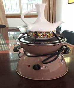 Portable electric stove for traditional Ethiopian Coffee Ceremony Medja Fernelo jebena used