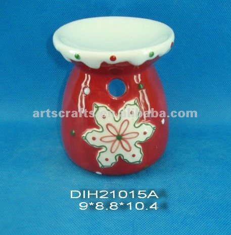 Ceramic oil burner for Christmas decoration