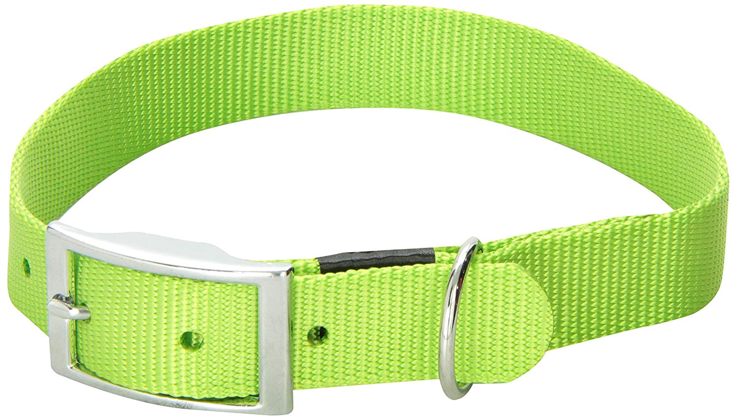 Dogit Nylon Single Ply Dog Collar with Buckle, X-Large, 20-Inch, Green