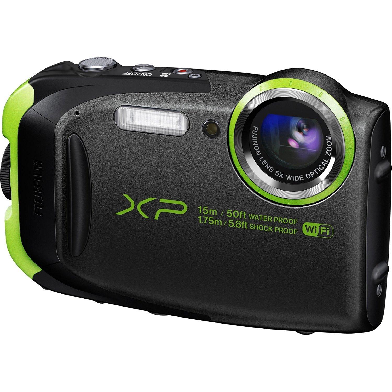 Fujifilm FinePix XP80 Waterproof Digital Camera with 2.7-Inch LCD (Graphite Black) (International Model) No Warranty