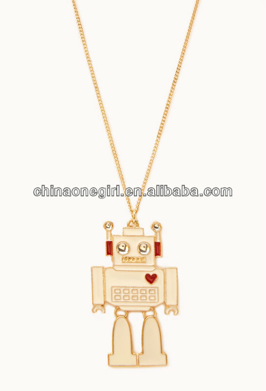 Kitsch Robot Pendant Necklace