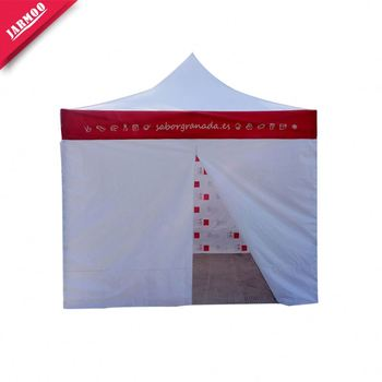 Full Color Printing Small Moq Printed Pop Up Awning Tent