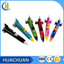 novelty design airplane shape ballpoint pen with led light