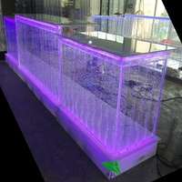 pub bar furniture LED colour changing water bubble acrylic bar counter used nightclub furniture