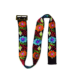 Womens Alpaca Wool Handmade Belt with Colorful Embroidered Flowers