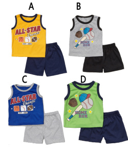 Manufactory Wholesale Excess Inventory Liquidators Children Boy's Clothing  Set