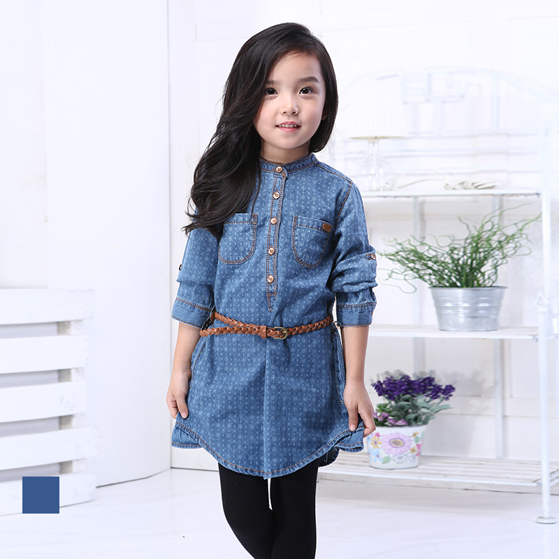 78447f350a0 Buy 2015 Spring Autumn Girls Denim Dress Clothing England Style Kids Cowboy  Clothes Oxford Children Dresses Vestidos Infantis in Cheap Price on  m.alibaba. ...