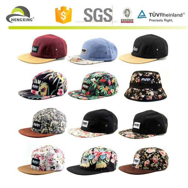 Custom leather strap 5 panel hat wholesale